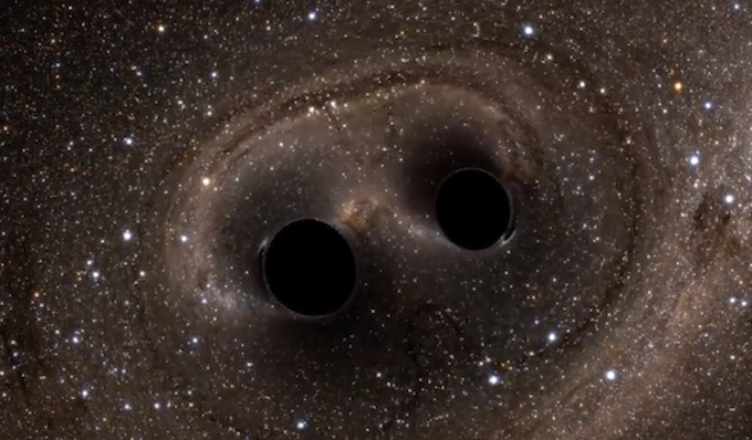 binary coalesce black hole generating gravitational waves